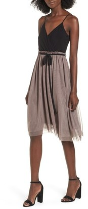 Women's Leith Mixed Media Midi Dress $85 thestylecure.com