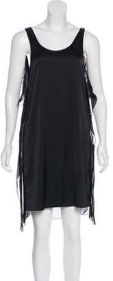 MM6 MAISON MARGIELA Sleeveless Chiffon-Paneled Dress