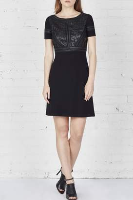 Bailey 44 Leather Embroidered Dress