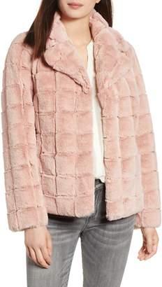 Kristen Blake Quilted Faux Fur Jacket