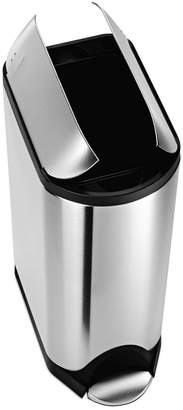 Simplehuman Brushed Stainless Steel 30 Liter Fingerprint Proof Butterfly Step Trash Can