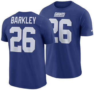 9ac2dd933a2 Nike Men Saquon Barkley New York Giants Pride Name and Number Wordmark T- shirt