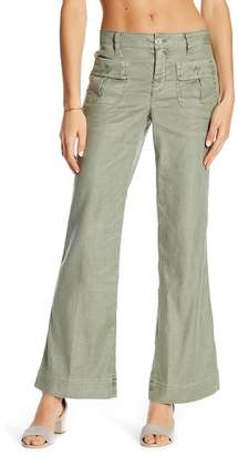 Level 99 Flap Patch Linen Blend Pocket Pants