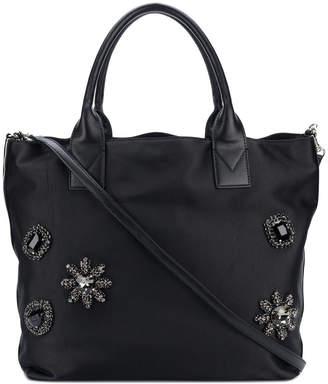 Pinko brooch embellished tote bag
