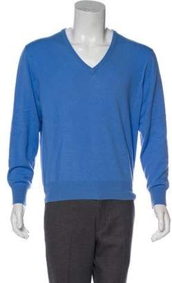 Loro Piana Baby Cashmere V-Neck Sweater blue Baby Cashmere V-Neck Sweater