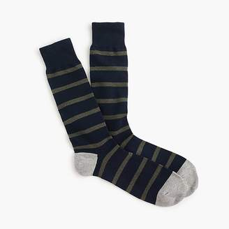 J.Crew Naval-striped socks