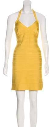 Herve Leger Halter Bandage Dress Halter Bandage Dress