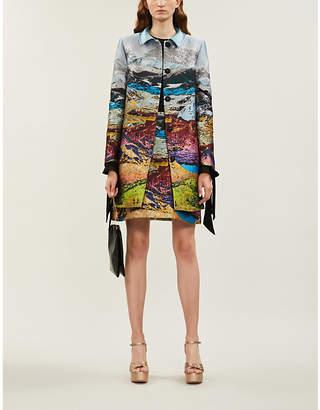 Mary Katrantzou Stephania metallic jacquard coat