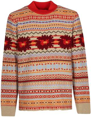 Sacai Floral Knitted Sweater