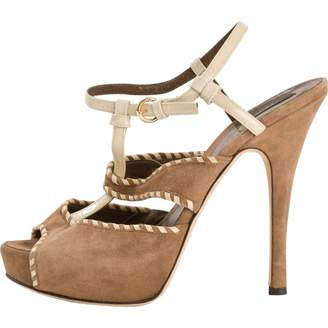 Bally Brown Suede Sandals
