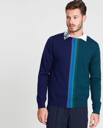 Paul Smith Central Stripe Merino Wool Jumper