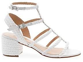Schutz Women's Rosalia Braided Leather Gladiator Sandals