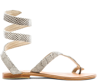 LSPACE by Cocobelle Snake Wrap Sandal $119 thestylecure.com