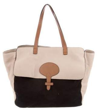 Tila March Leather Paneled Tote