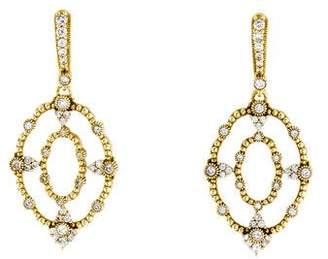 Judith Ripka 18K Diamond Drop Earrings