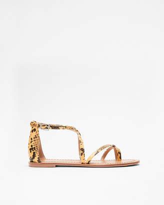 Express Snakeskin Ankle Strap Sandals