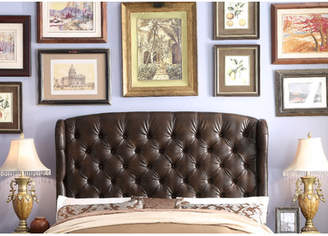 Three Posts Leatham Queen Upholstered Wingback Headboard