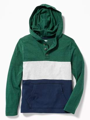 Old Navy Color-Blocked Henley Hoodie for Boys