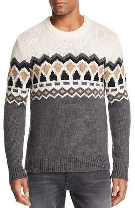 Theory Verios Rueda Chunky Fair Isle Sweater