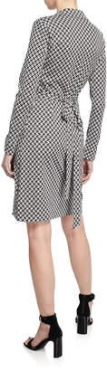 Diane von Furstenberg New Jeanne 2 Printed Wrap Dress