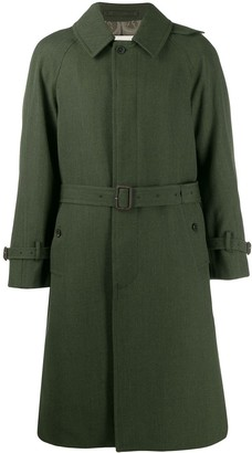 MACKINTOSH CATRINE Loden Green Virgin Wool Single Breasted Trench Coat GM-1020F