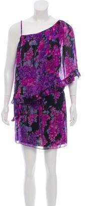 Rebecca Taylor Silk Floral Print Mini Dress