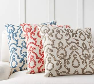Pottery Barn French Knot Trellis Pillow Cover