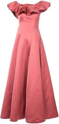 Paule Ka one shoulder flared gown