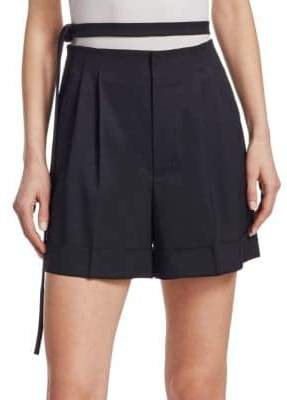 Helmut Lang High Waisted Wool Shorts