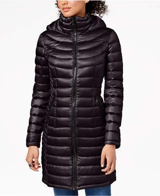 Calvin Klein Petite Hooded Packable Down Puffer Coat