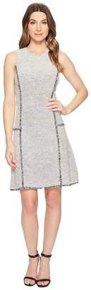 Ellen Tracy Sleeveless Seamed Flounce Dress Women's Dress