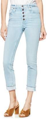 Paige Sarah Button Fly High Waist Slim Jeans