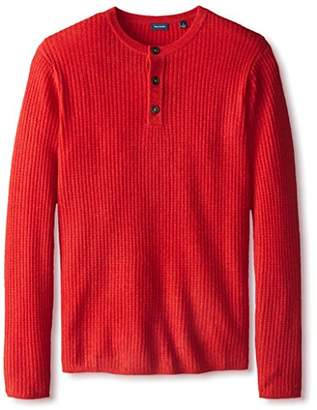 Thirty Five Kent Men's Cashmere Three Button Thermal Henley