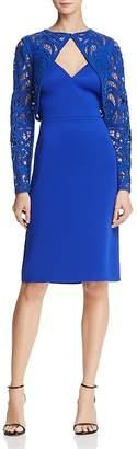 Tadashi Shoji Crochet Overlay Dress