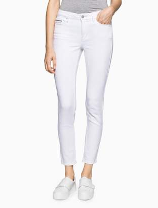 Calvin Klein white denim ankle leggings
