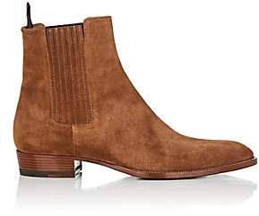 Saint Laurent Men's Wyatt Suede Chelsea Boots - Brown