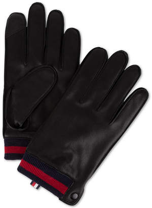 Tommy Hilfiger Men Leather Touch-Screen Gloves
