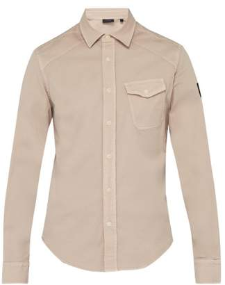 Belstaff Steadway Stretch Cotton Twill Shirt - Mens - Pink