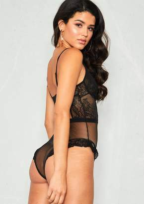 b656ce5fc6 Missy Empire Missyempire Bella Black Lace Mesh Bodysuit