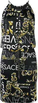 Versace printed drawstring dress