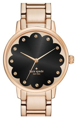 Kate Spade New York 'gramercy' Scalloped Dial Bracelet Watch, 34mm $225 thestylecure.com