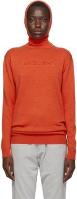 Ambush Orange Knit Embossed Turtleneck