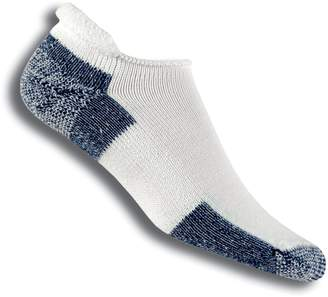 Thorlo Unisex Thick Cushion Running Rolltop Sock,White,13 (Shoe Size 10.5-13)