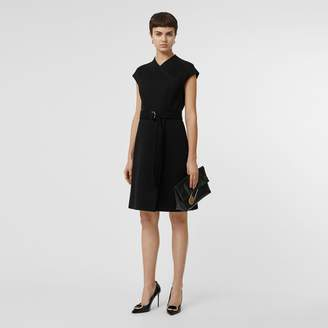 Burberry D-ring Detail Bonded Jersey Dress
