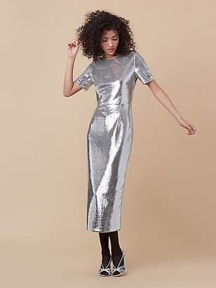Diane von Furstenberg Tailored Sequin Midi Dress