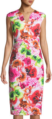 Cynthia Steffe Cece By Tropic-Floral Sleeveless Sheath Dress