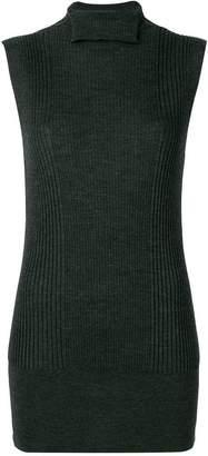 Poiret sleeveless turtle-neck sweater