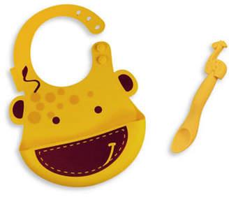 Marcus Collection & Lola the Giraffe Silicone Baby Bib and Feeding Spoon Set