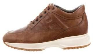Hogan Leather Low Top Sneakers