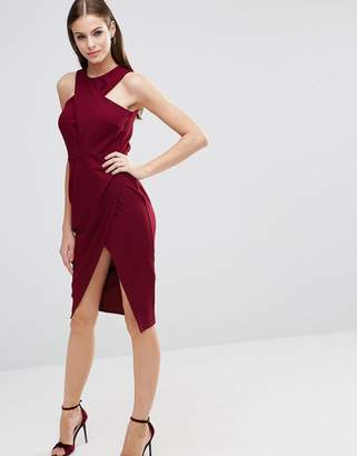 ASOS Wrap Crepe Top Bodycon Midi Pencil Dress $68 thestylecure.com